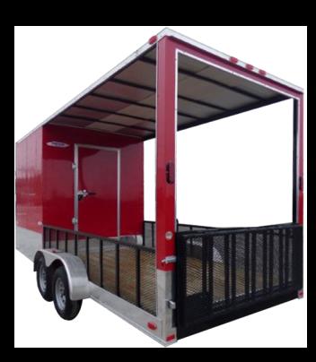 Enclosed Hybrid Trailer 7x20
